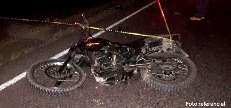 Fallece motorizado en accidente vial la noche del sábado en Coporito
