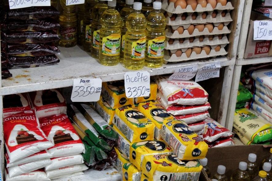 Precios de productos en dólares en Tucupita al 18.01.2021